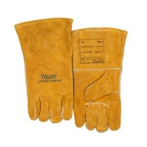 Weldas lashandschoen Golden Brown Economy - split rund schouderleer - vleugel duim   Split rundleer van de schouder   Volledig katoen gevoerd   10-2101GB
