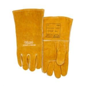Weldas lashandschoen MIG Golden Brown split schouder rundleer, versterkte rechte duim   Split rundleer   Volledig katoen gevoerd   Rechte duim   10-2392GB