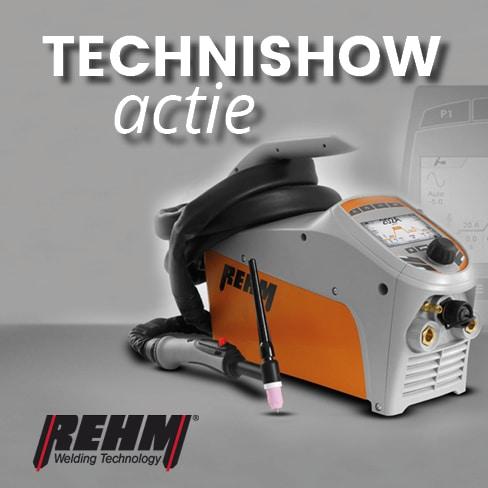Rehm aanbieding - Technishow Beursactie | gratis lashelm Multivision, Speedglas, Optrel | zie actiefolder | Deze actie is geldig van 19-03-2018 t/m 30-03-2018